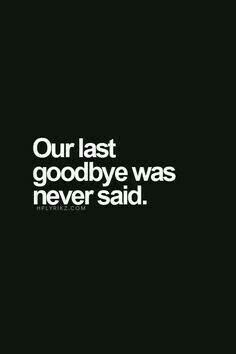 Never said...