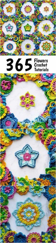 365 Flowers Crochet Tutorials