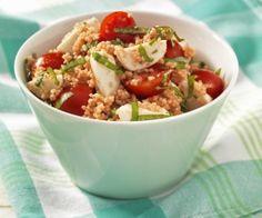 Couscous mit Tomaten und Mozzarella