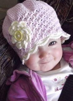 gorro niña a crochet