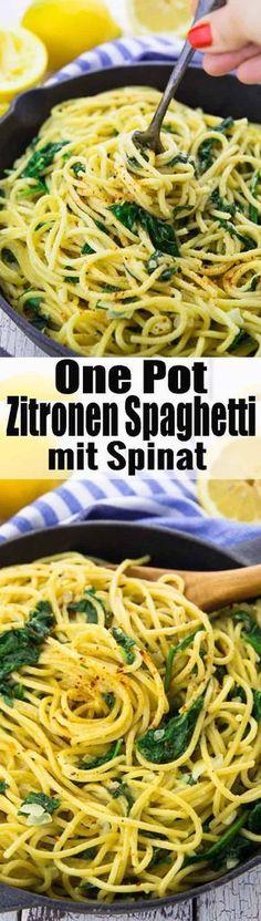 Super einfaches Rezept für Zitronenspaghetti mit Spinat. Nicht nur super lecker, sondern auch total einfach zuzubereiten und 100 Prozent vegan! Ich liebe One Pot Pasta Rezepte!! Mehr vegetarische Rezepte findet ihr auf veganheaven.de!