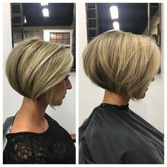 66 Chic Short Bob Hairstyles & Haircuts for Women in 2019 - Hairstyles Trends Short Stacked Bob Haircuts, Graduated Bob Haircuts, Stacked Bob Hairstyles, Medium Bob Hairstyles, Cute Hairstyles For Short Hair, Hairstyles Haircuts, Short Hair Cuts, Short Hair Styles, Short Stacked Bobs
