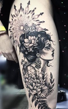 Check out our website for more Tattoo Ideas 👉 positivefox.com #legtattoos