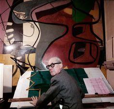 Le Corbusier in his apartment and #studio in Paris #architecture
