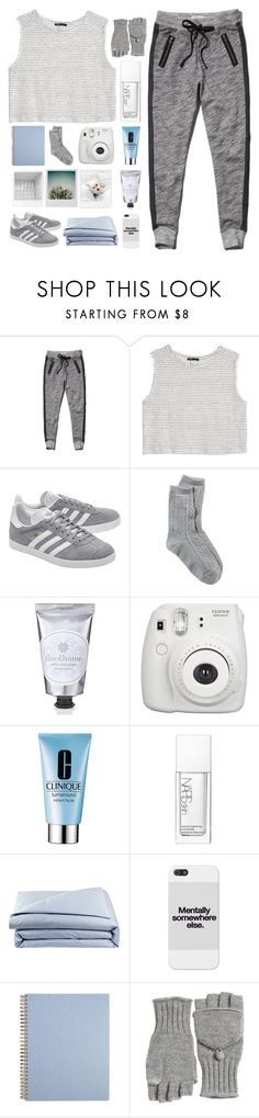 """""""it's a sign of the times"""" by midnight-glow ❤ liked on Polyvore featuring Abercrombie & Fitch, MANGO, adidas Originals, American Eagle Outfitters, 7 For All Mankind, Fujifilm, Clinique, NARS Cosmetics, Frette and Calypso St. Barth"""