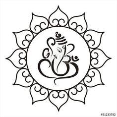Vector: Ganesha, Hindu wedding card, royal Rajasthan, India – The Best Ideas Ganesha Drawing, Lord Ganesha Paintings, Ganesha Art, Ganesh Tattoo, Shadi Card, Ganesha Rangoli, Elefante Hindu, Tattoo Painting, Hindu Wedding Cards