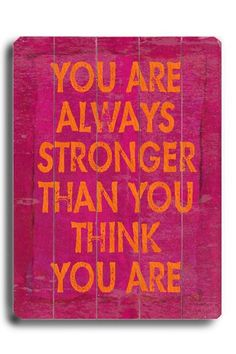 You are ALWAYS stronger than you think you are. #quotes #hope #pain #chronic #illness #health