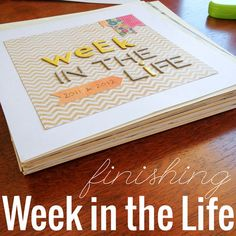 A simple approach to Week in the Life - and it's FINISHED! #digiscrap #hybrid #scrapbooking