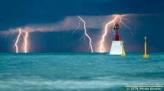 Lightning strikes Adriatic sea!
