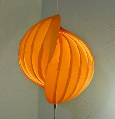 Danish Modern String Light Pendant by LiseVintageLighting on Etsy, $150.00