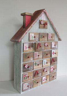 Christmas Advent Calendar, Wooden Advent