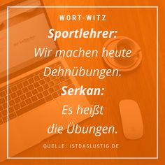 Denkt immer daran, den Übungen genug Aufmerksamkeit zu schenken!  #wort-witz #wortwitz #humor #schreiben #witz #lustiges #texter #kreatives #sprüche #lustig #sport #fitness #aktiv Sport Fitness, Aktiv, Movie Posters, Movies, Pe Teachers, Passion, Funny Stuff, Jokes, Films