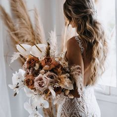 This slim, sheer and nude colored sheath dress is a remarkable option made entirely of hand beaded pearl tulle with geometric patterns and offers a flared skirt with two-toned tulle inserts. Boho Wedding Dress, Floral Wedding, Bridal Dresses, Wedding Bouquets, Bohemian Wedding Flowers, Boho Dress, Lace Wedding, Bridal Looks, Bridal Style
