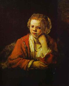 Young Girl at the Window - Rembrandt
