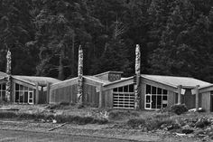 Explore the Haida Heritage Centre at Kay Llnagaay for cultural tourism in Haida Gwaii, BC. Browse the image gallery to see the carving studio and museum. Haida Gwaii, Seaside Village, Artist At Work, British Columbia, Centre, Tourism, Art Gallery, Totem Poles, True North