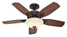 Hunter Auberville 44 in. Bowl 5 Minute Ceiling Fan. Alternative to downward lighting for bedrooms so you aren't staring up at the bulb itself. $99 not on sale. For the bedrooms