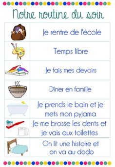 Two Sisters An Agenda – Ideas p Education Positive, Kids Education, Kids Routine Chart, French Language Lessons, Diy Organisation, French Expressions, French Classroom, Teaching French, Preschool