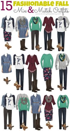 Mix and Match Fall Outfits from Target