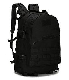 6592a52ca4eb Tactical Backpack 600D Oxford Classical Hiking Backpack Camping Backpack  Travel Backpack ACU Black    Check