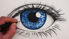 See one way to draw a realistic eye with graphite pencils and coloured pencils in this narrated art tutorial for beginners from Circle Line Art School, How to Draw a Realistic Eye in Colour