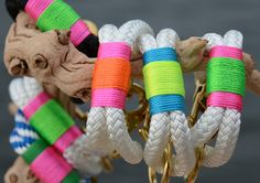 nautical rope bracelet in neon colors by knot:ical.