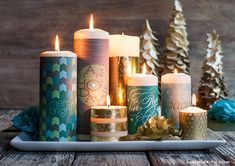 Printable Candle Wraps & Matchbox Labels | Lia Griffith Go to the end of the post for the download links! pdf comes up- save as for each download!