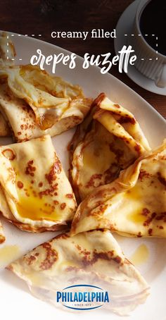 Creamy Filled Crepes Suzette – Get creative for your breakfast table with this homemade crepe recipe! Marmalade, orange juice, and lemon juice give this brunch dish a triple layer of sweet and citrusy flavor. Breakfast Desayunos, Breakfast Dishes, Breakfast Recipes, Mexican Breakfast, Pancake Recipes, Breakfast Sandwiches, Waffle Recipes, Crepe Recipes, Kraft Recipes