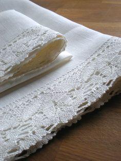 White Linen serviettes linge main serviettes serviettes Salle de bain décor serviettes de Pâques cadeau