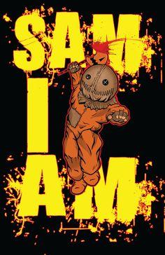 Sam Trick r Treat 11x17,  Halloween, Horror, Monsters, Fantasy, Sam, Trick or Treat, Art Prints, Digital Prints, Prints by TheArtofElijahGomez on Etsy https://www.etsy.com/listing/216139213/sam-trick-r-treat-11x17-halloween-horror