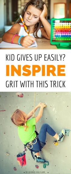 If your kid gives up when things get hard, she might need to develop a growth mindset. This post shares proven tricks for teaching your kid to keep trying.