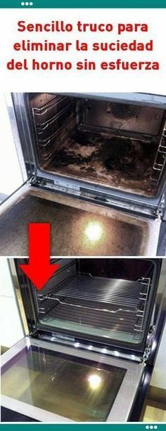 Limpieza dad del horno sin esfuerza. Tu horno va a lucir como nuevo Cleaning Recipes, Cleaning Hacks, Limpieza Natural, Power Clean, Cleaning Solutions, Home Hacks, Clean House, Housekeeping, Home Remedies
