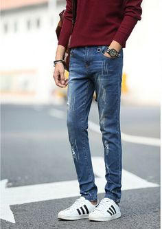 Aliexpress.com : Buy Men Denim Jeans Long Male Pencil Pants Slim Fit Fashion Men Pants with Pockets Zipper from Reliable jeans pants men suppliers on *&#BEAUTY HOME*&# DRESS | Alibaba Group
