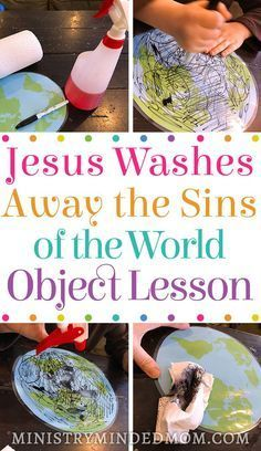 Teach children about Jesus washing away the sins of this world with this Jesus Bible object lesson for kids. It can be hard to teach kids the gravity of what Jesus has done for us. But Bible object lessons make it a lot easier for kids to grasp the harder Sunday School Crafts For Kids, Bible Crafts For Kids, Bible Study For Kids, Sunday School Activities, Church Activities, Bible Activities For Kids, Teen Sunday School Lessons, Preschool Bible Activities, Toddler Sunday School