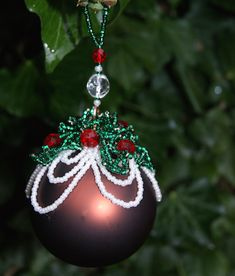 Brandy Pudding Bauble. Available as a kit or as a bead pack if you already have the instructions, the Brandy Pudding is available in three sizes