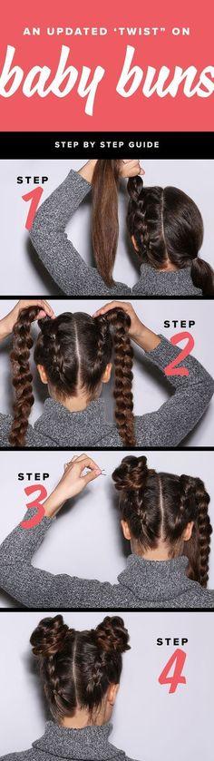 Double Bun Hair Tutorials For A Futuristic Look - StyleVilas.com #BunHairstylesDouble
