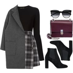 : Modest Fashion 345018021453968376 - A fashion look from January 2018 featuring Proenza Schouler sweaters, Yves Saint Laurent ankle booties and Fendi shoulder bags. Browse and shop related looks. Source by ceciliadjouahra Teenage Outfits, Winter Fashion Outfits, Look Fashion, Korean Fashion, Fall Outfits, Modest Fashion, Runway Fashion, Fashion Trends, Cute Casual Outfits