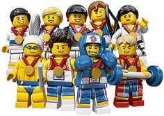 Olympic LEGO Minifigures - fun little contest to win these exclusive minifigs! http://thebrickblogger.com/2012/07/lego-minifigures-olympic-team-contest/
