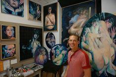Artist Scott Hutchison in His Studio