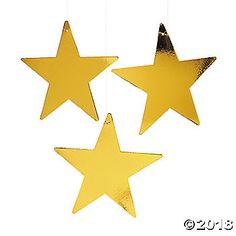 These large metallic gold stars make elegant party decorations and are great to have on hand for impromptu celebrations. Perfect for receptions, prom ...