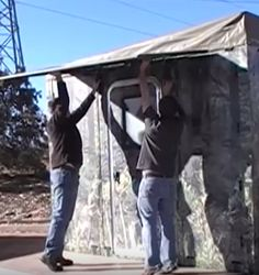 Low Cost Modular Bug Out Shelter That Can Be Assembled By 2 People In Under 30 Minutes http://www.thegoodsurvivalist.com/low-cost-modular-bug-out-shelter-that-can-be-assembled-by-2-people-in-under-30-minutes/ #thegoodsurvivalist