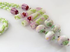 Spring in Japan Beaded necklace seed beads for women girls