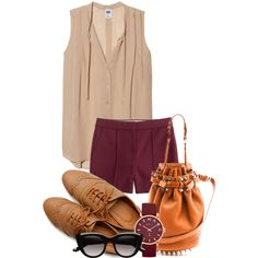 A fashion look from August 2013 featuring NSF tops, J.Crew shorts and Ollio oxfords. Browse and shop related looks.