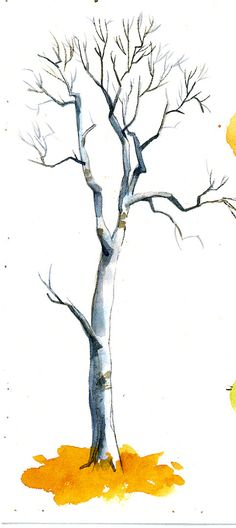 Okay, I haven't found my pen sketches yet, but I found these.  It's some of the trees I painted for the animators to work from when we were ...