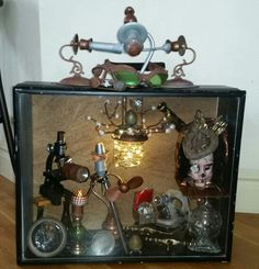 My Steampunk curio box.  All things from Goodwill...and side of the road...