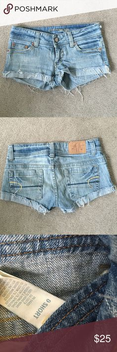 American Eagle Short size 0 Excellent condition  No trade, no model American Eagle Outfitters Shorts Jean Shorts
