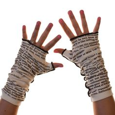 Jane Eyre writing gloves.  I REALLY want these, maybe for my birthday?
