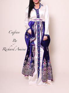 bd0e050028d Dina Bleu 34 38 - Caftan By Richard Amina