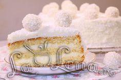 Romanian Food, Romanian Recipes, Vanilla Cake, Deserts, Yummy Food, Cooking, Sweet, Cakes, Raffaello