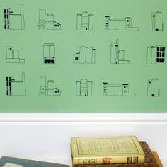 Designer Wallpaper - Cement Works » Pretty Dandy