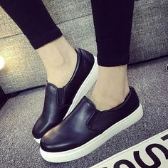 Promotional 2015 Casual Flat Heel Bow Knot Round Toe Slip On Black Loafer Shoes Autumn Comfortable Women Shoes